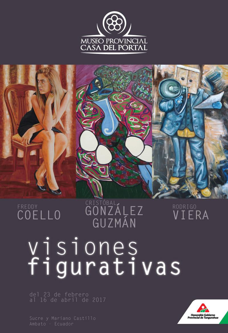 Visiones figurativas. Freddy Coello, Cristóbal González Guzmán, Rodrigo Viera